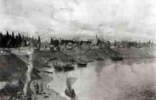 Вологда в 1147 г. (с картины А.И. Брягина)