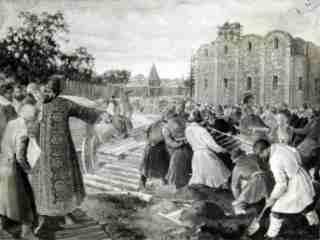 Иван Грозный на постройке Софийского собора (с картины А.И. Брягина)