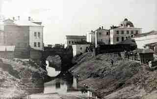Каменный мост и река Золотуха (часть рва вокруг Вологодской крепости)