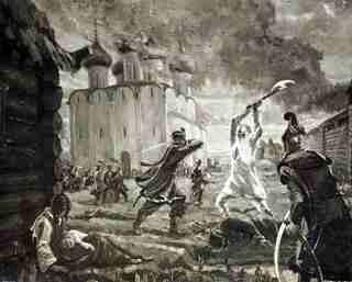 Бесчинства польских захватчиков в Вологде (репродукция)