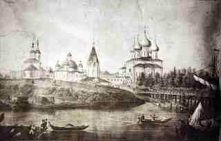 Софийский собор и колокольня в середине XIX века