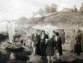 Петр I в Вологде, 1704 год (с картины А.И. Брягина)