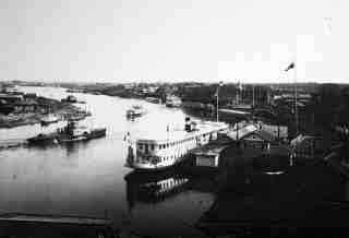 Пароходные пристани в 1912 году